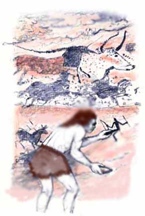 What do the early cave paintings tells us about early man