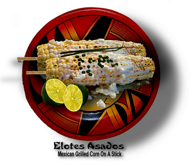 ELOTES ASADOS - MEXICAN GRILLED CORN ON A STICK